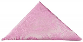 Pink paisley pocket square | handkerchief Hv94