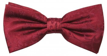Burgundy red boys bow tie - bowtie