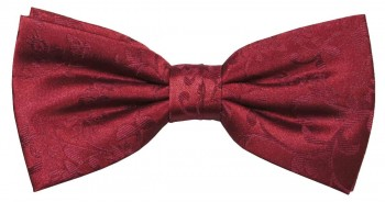Men´s Bow Tie Pretied burgundy red floral