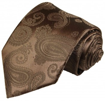 Paul Malone tie brown necktie paisley v96
