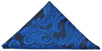 Blue paisley pocket square | handkerchief Hv98