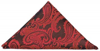 Red paisley pocket square | handkerchief Hv99
