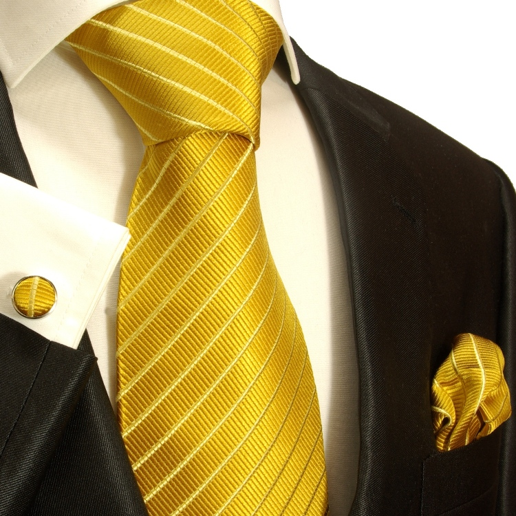 664b7509a852 Gold extra long XL necktie Set 3pcs. 100% silk mens tie 940 - Paul Malone  Shop