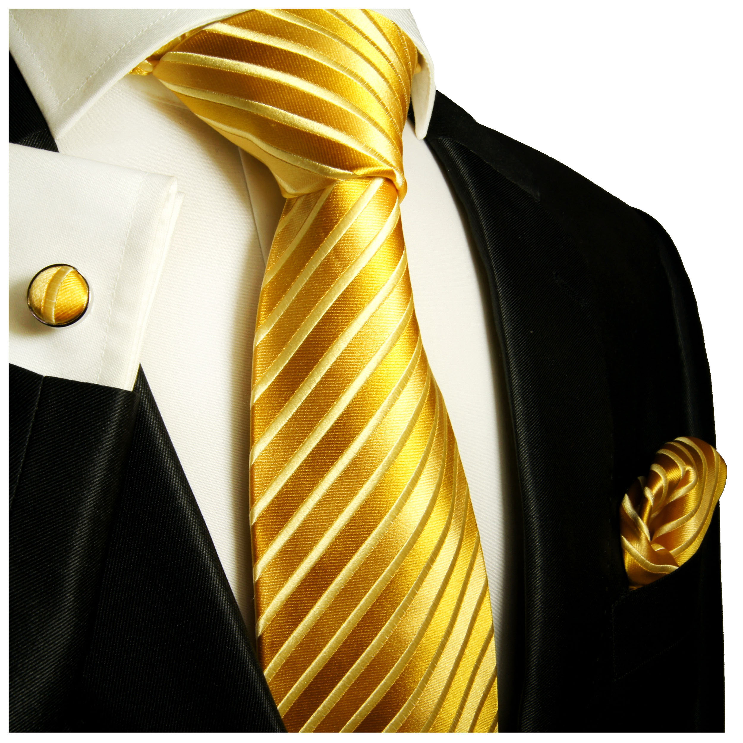 8d9f360ec1a3 Gold extra long XL necktie Set 3pcs. 100% silk mens tie 953 - Paul Malone  Shop