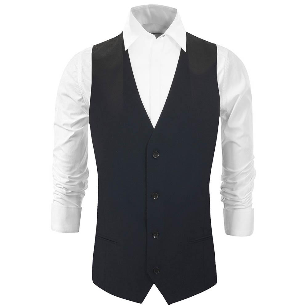 finest selection 74920 a7119 Herren Weste blau uni - Slim Fit - Anzug Weste für Männer