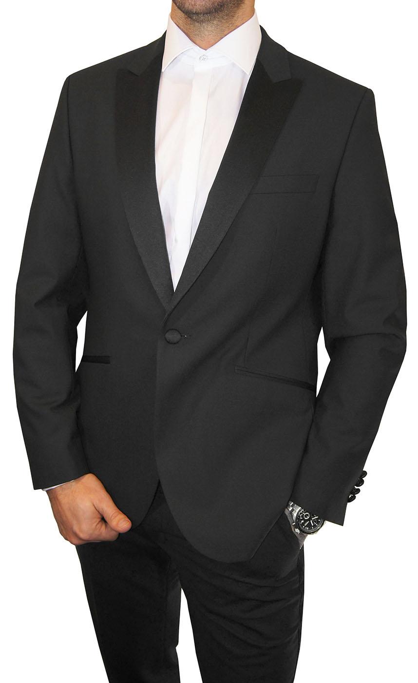 Smoking schwarz | Festlicher Hochzeit Herren Anzug Paul