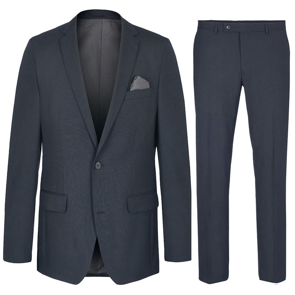 Herren Anzug dunkelblau | blauer Anzug moderne AMF Naht