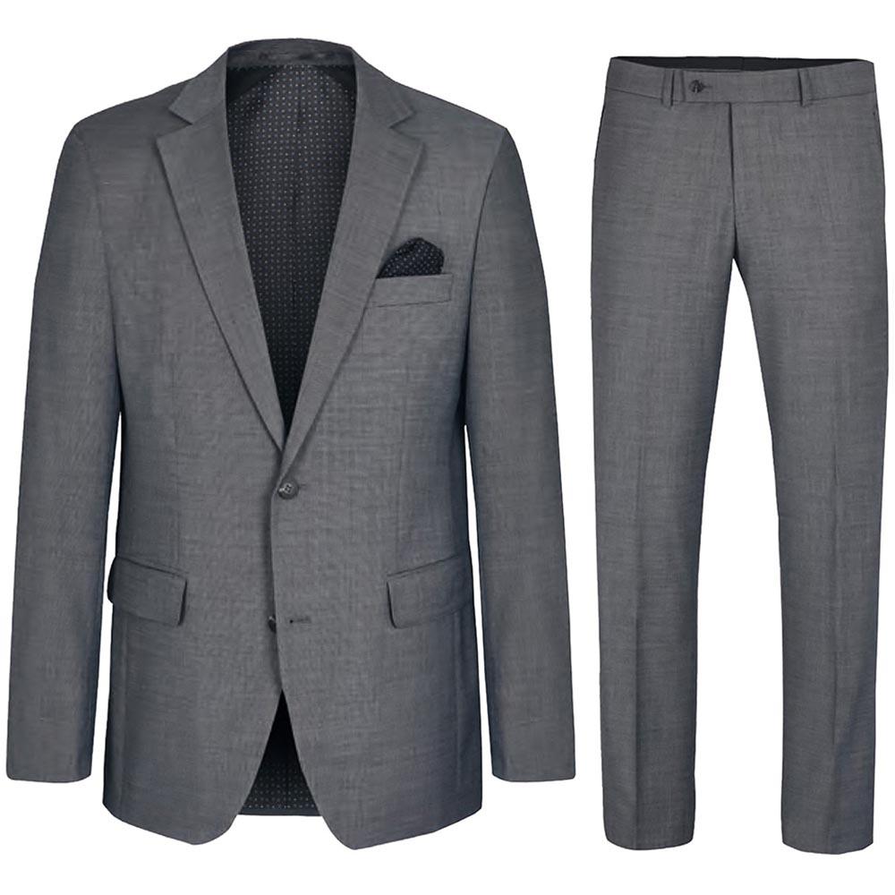 verschiedenes Design suche nach neuestem Suche nach Beamten Herren Anzug grau modern   Stretch Anzug für Herren