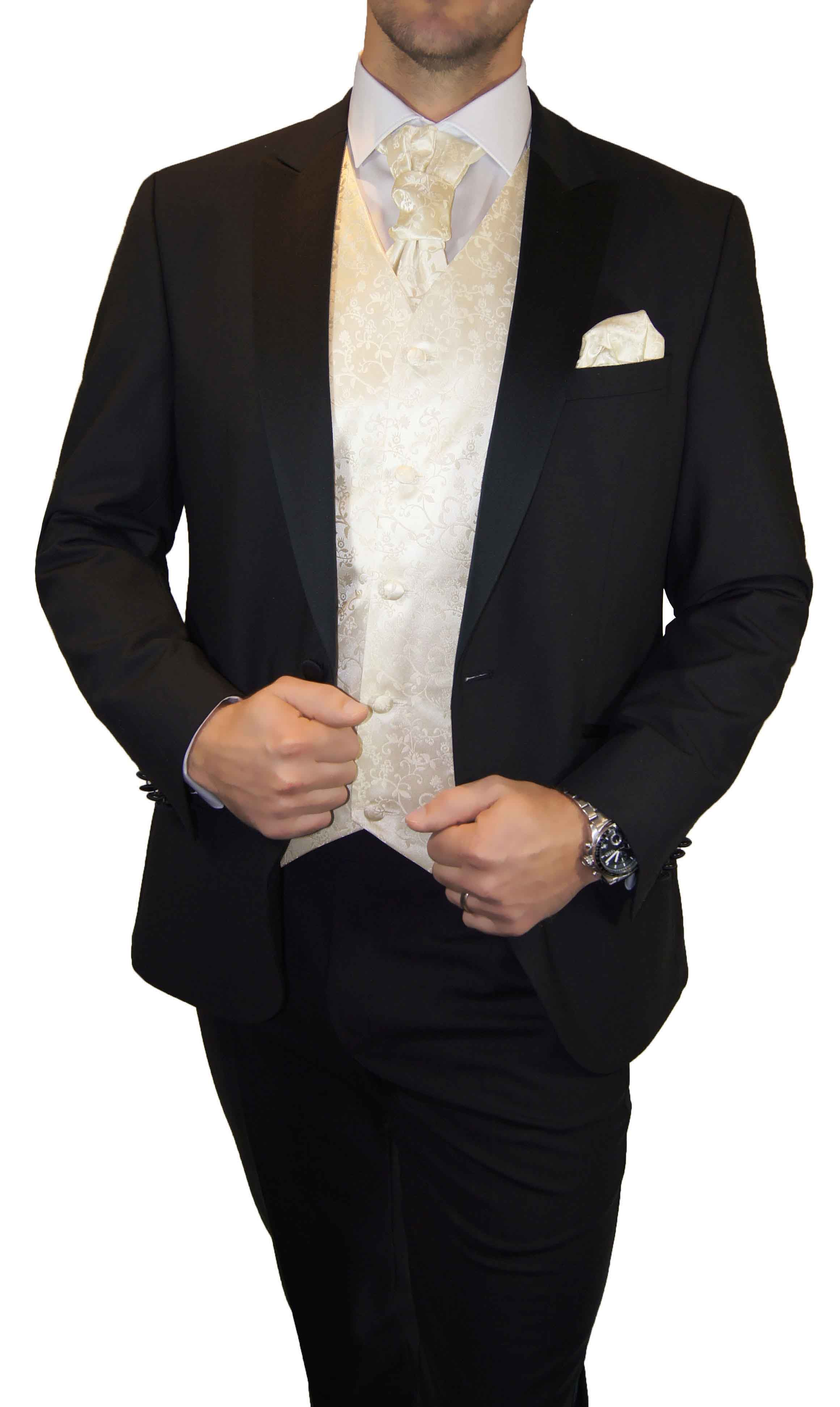 Tuxedo mens vest wedding champagne floral   Paul Malone Shop