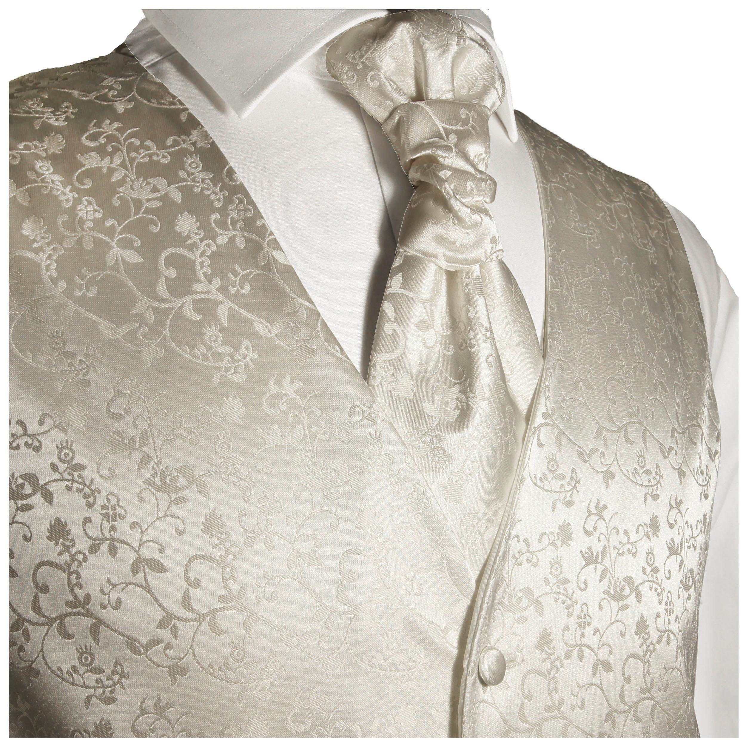 Herren Designer Elfenbein und Grün Wein Blatt Hochzeit Anzug Weste Alle Größen