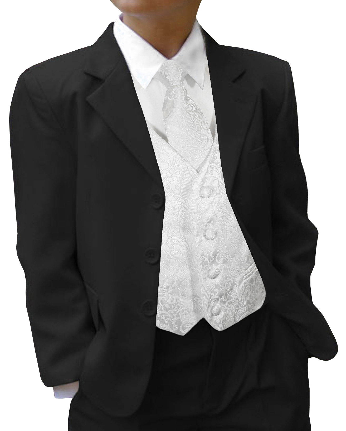 Wedding Tuxedo Black With Boys Suit Black White Paul