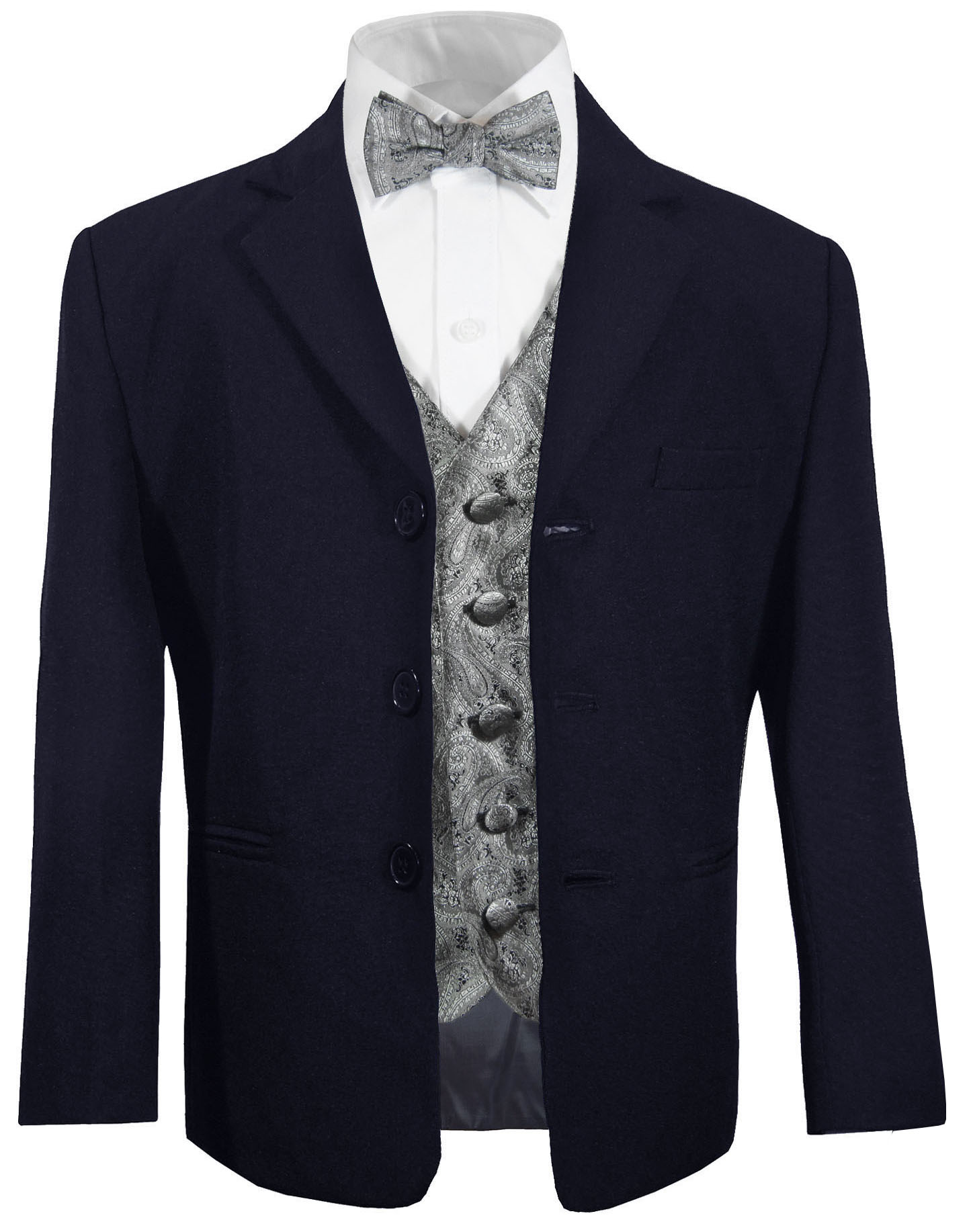 kinderanzug blau graue weste fliege paul malone shop. Black Bedroom Furniture Sets. Home Design Ideas