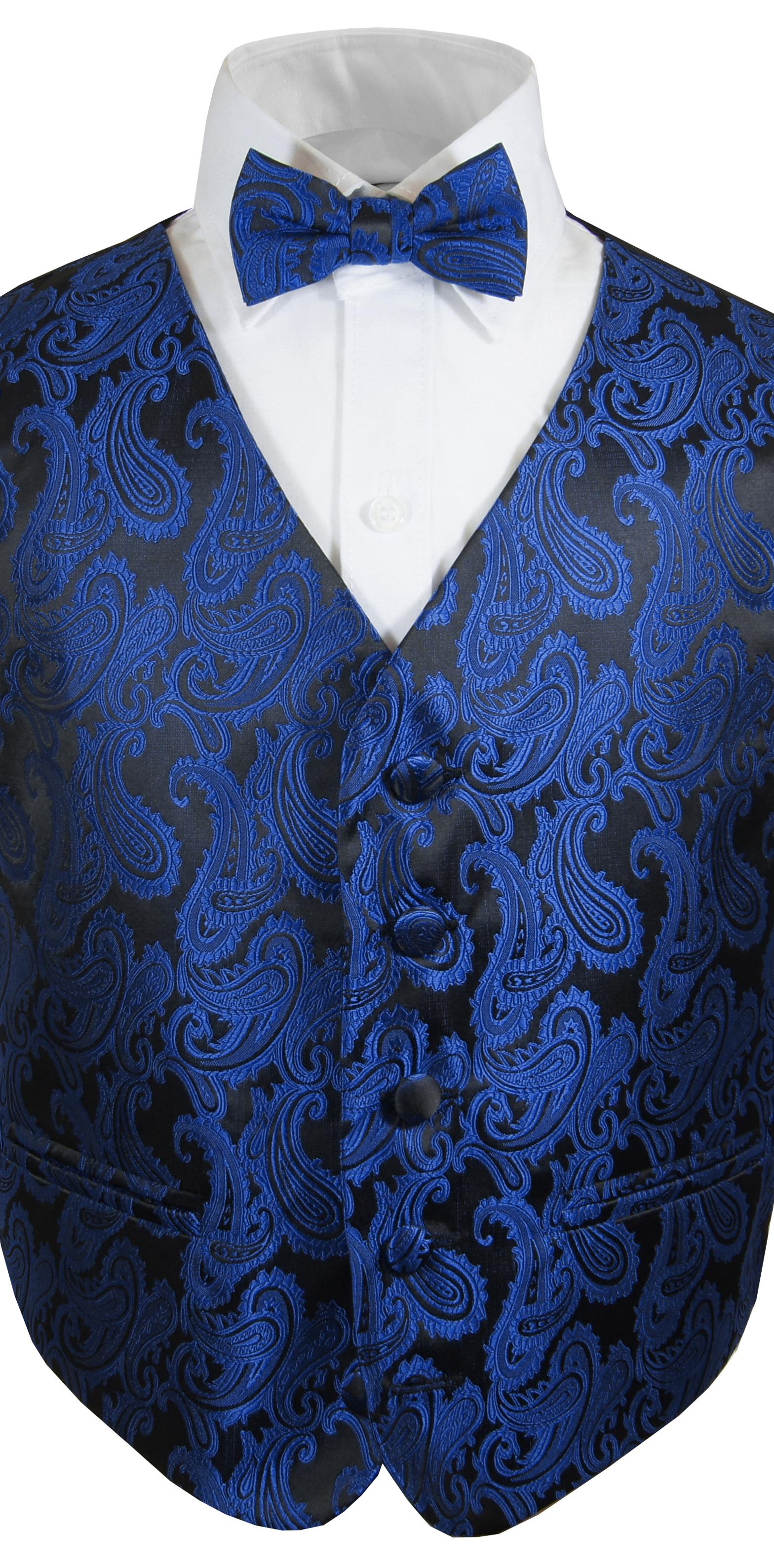 festlicher jungenanzug blaue weste fliege paul malone shop. Black Bedroom Furniture Sets. Home Design Ideas