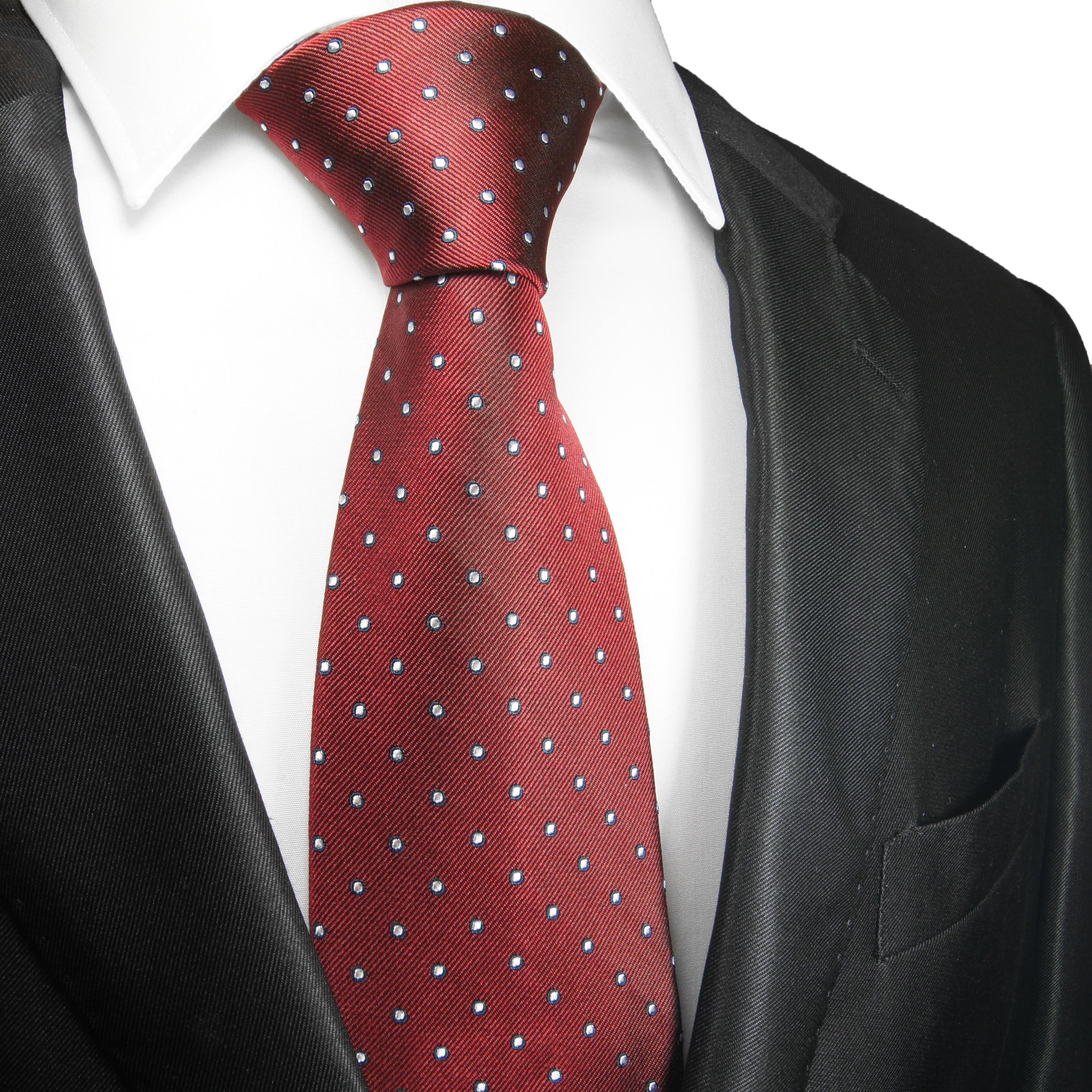paul malone shop rot gepunktete krawatte seidenkrawatte 2070. Black Bedroom Furniture Sets. Home Design Ideas