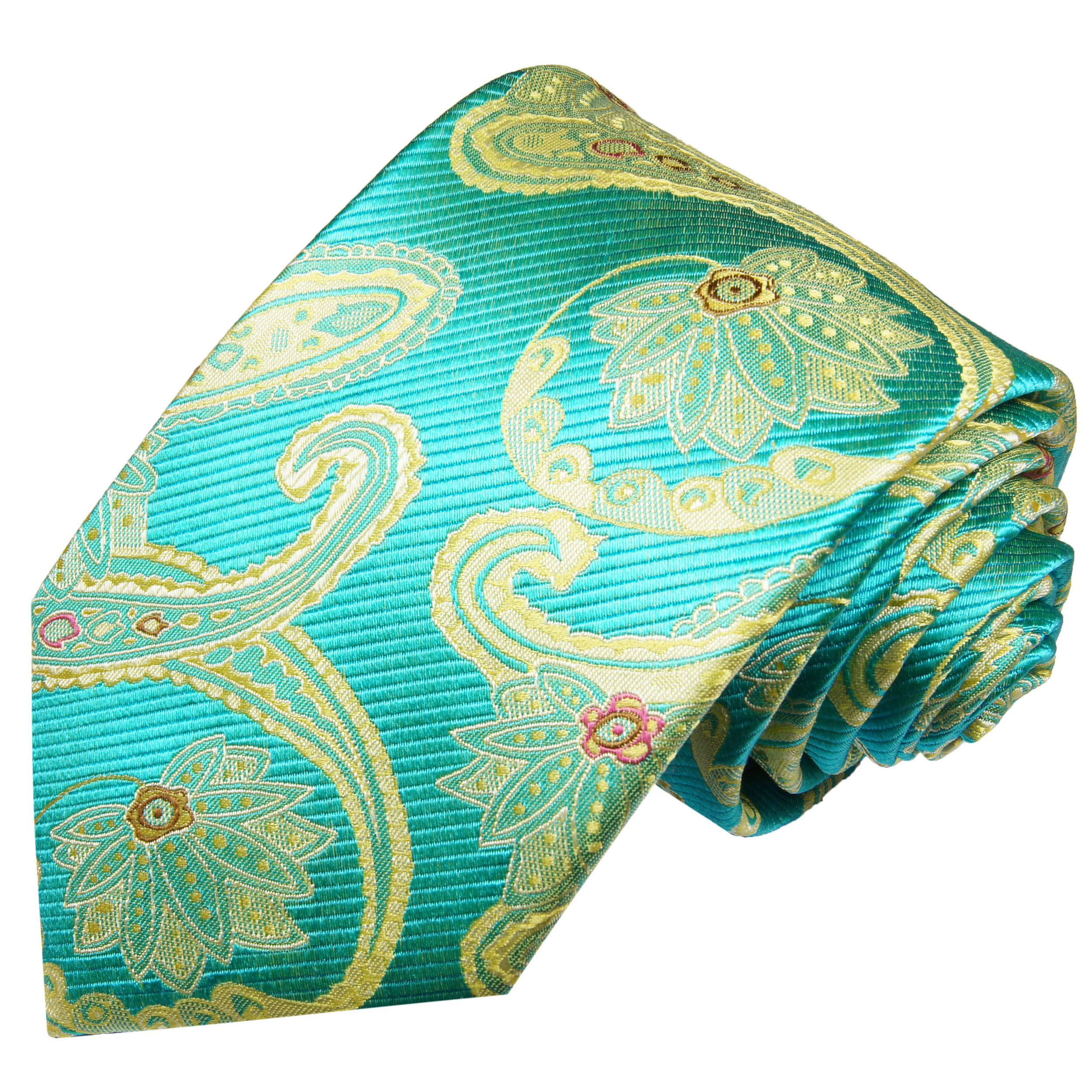1b1b4fcdb2e Turquoise mens tie paisley   silk necktie 2024 - Paul Malone Shop