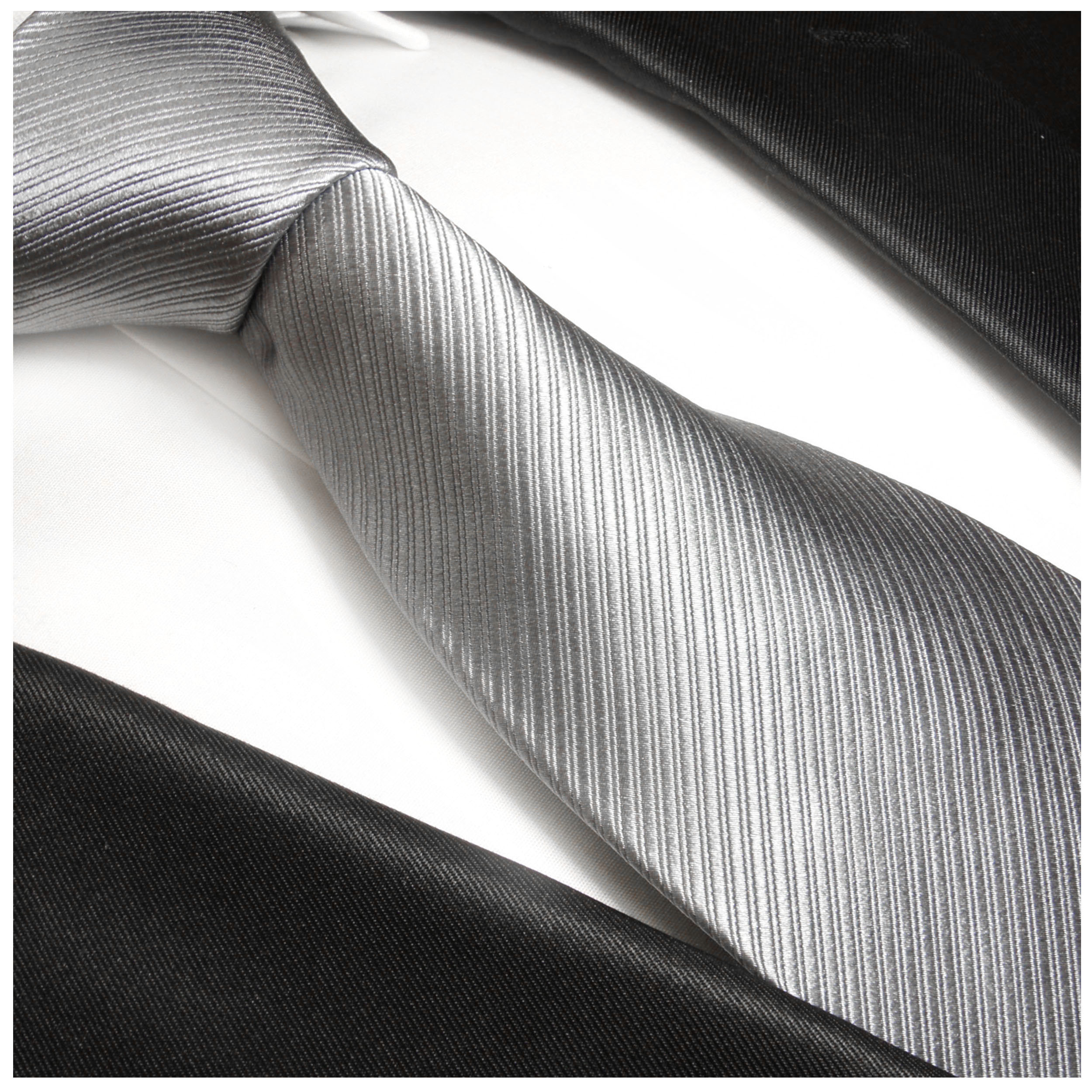 6cd40be5a294 Silver tie necktie silk solid 977   ORDER NOW - Paul Malone Shop