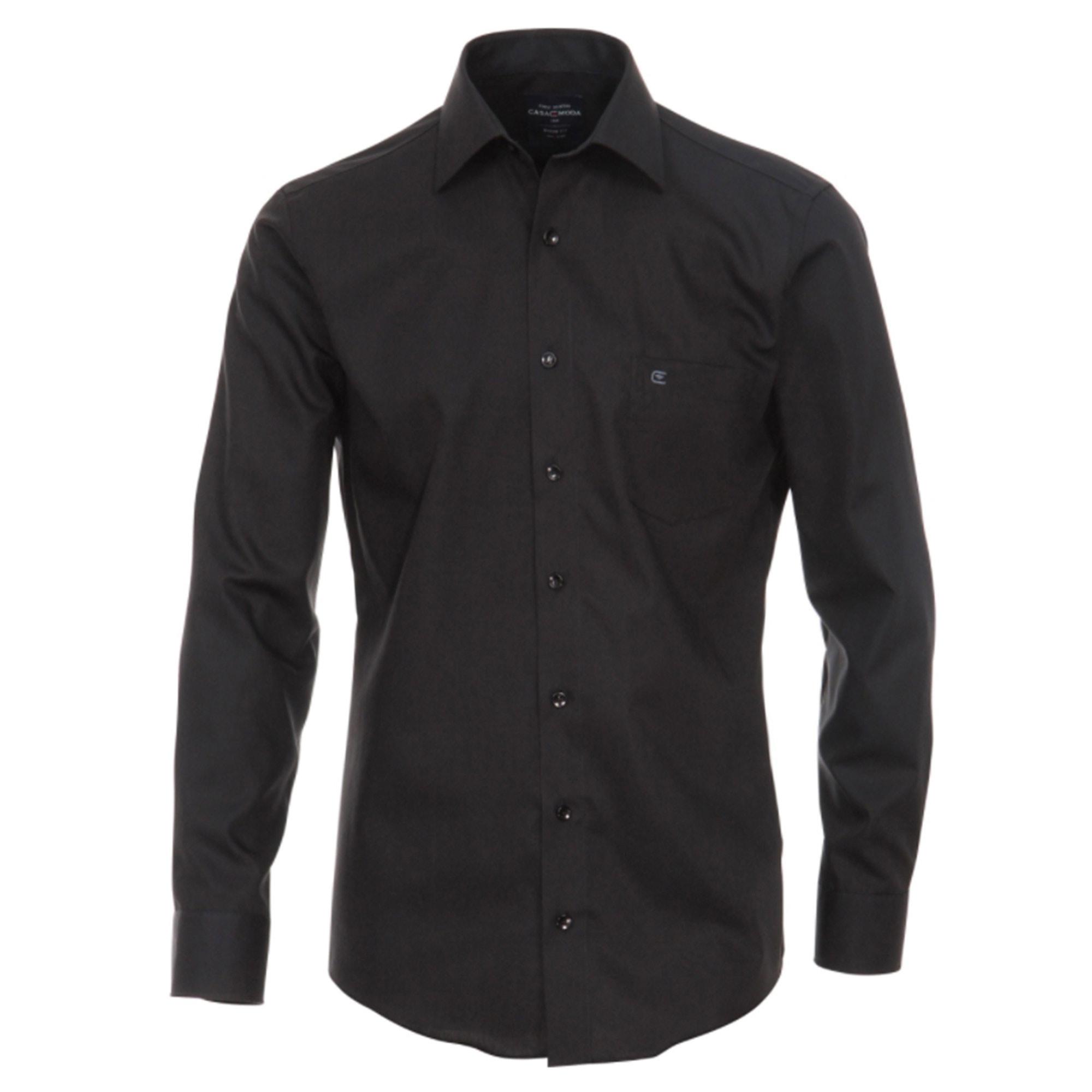 best service 0a1fa 72226 Casa Moda Slim Fit Herren Hemd schwarz | tailliertes Herrenhemd HL51
