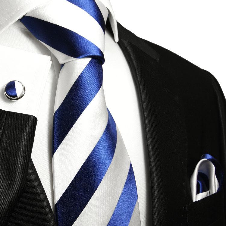 krawatten set 3tlg blau seidenkrawatte 405 paul malone shop. Black Bedroom Furniture Sets. Home Design Ideas