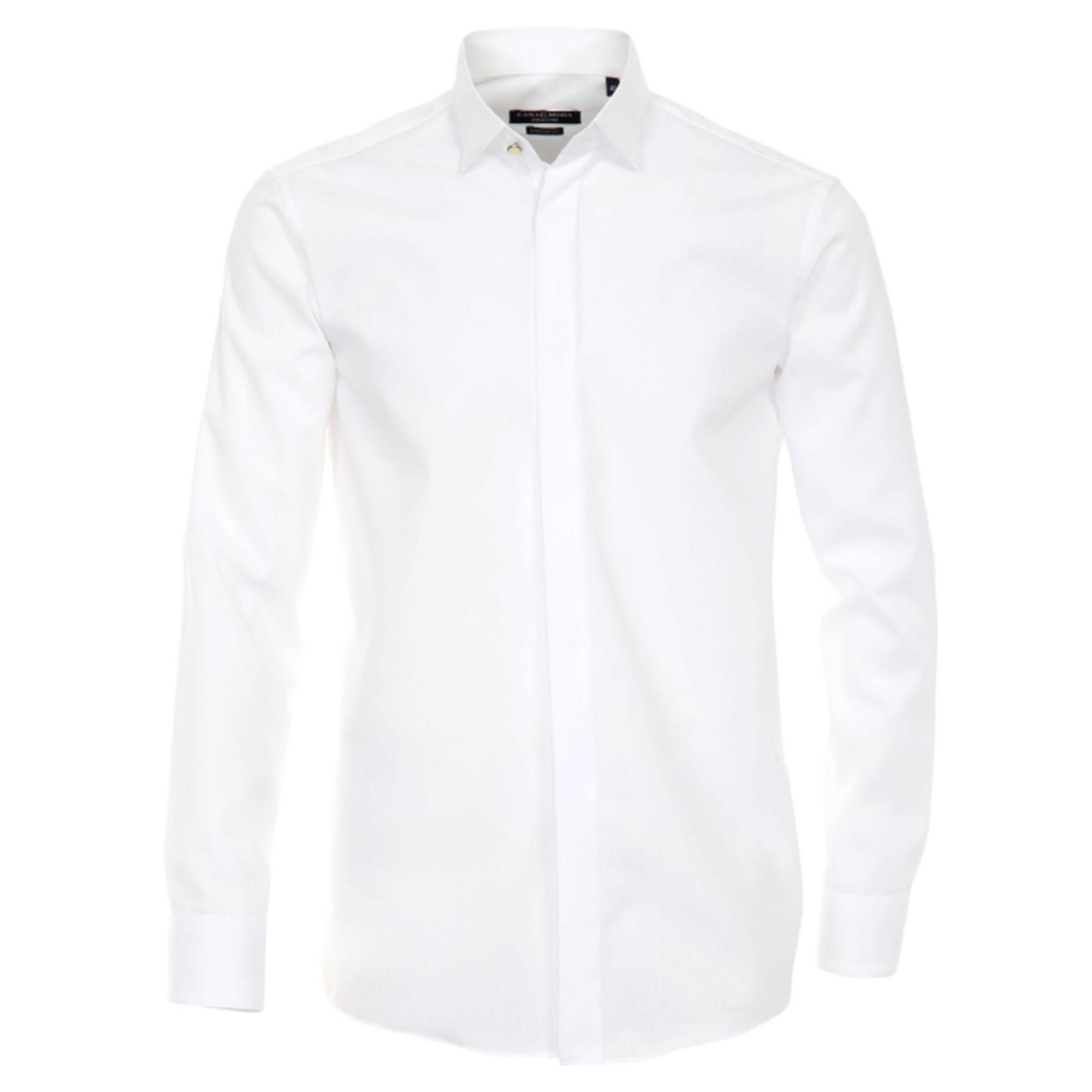 676fddc8e7356b Casa Moda shirt HL1 white shark collar - Paul Malone Shop