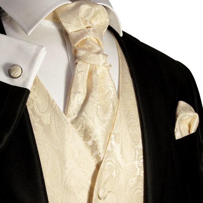 Paul Malone Hochzeitsweste Set 5tlg elfenbein ivory
