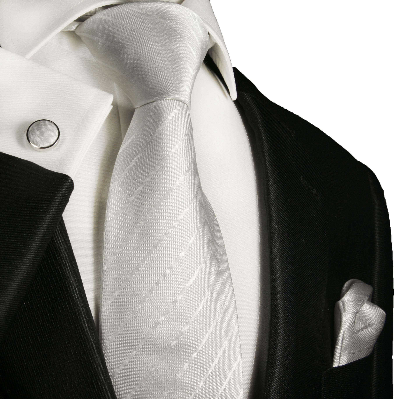 Silk Tie Pocket Square and Cufflinks 100/% Silk Red White