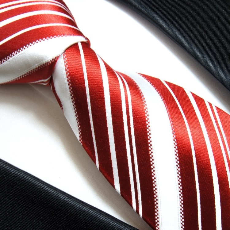 paul malone shop rote krawatte gestreift seidenkrawatte 445. Black Bedroom Furniture Sets. Home Design Ideas