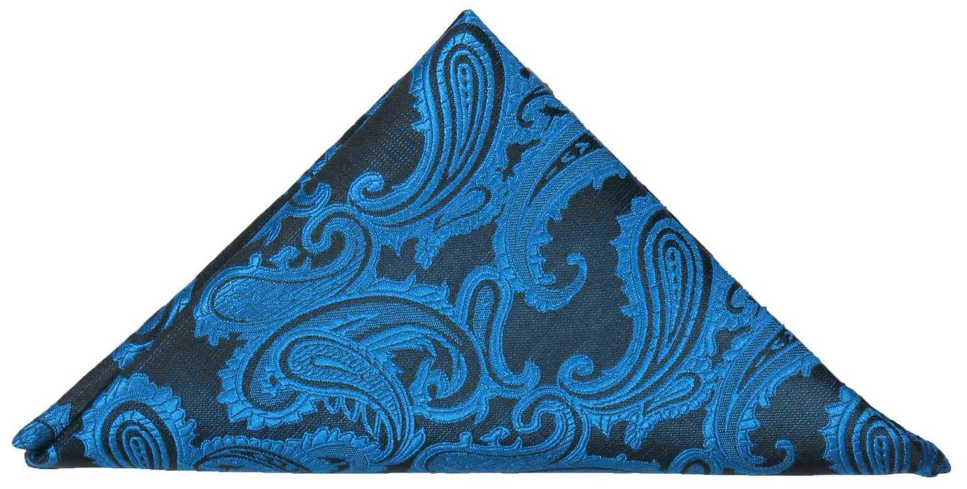 0c72f43dbaaa9 Blue paisley pocket square | handkerchief Hv100 - Paul Malone Shop