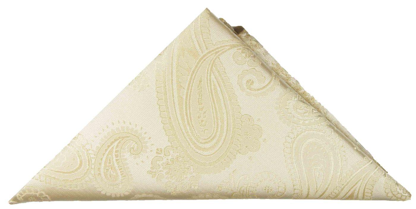 778be24f729a5 Cream paisley pocket square | handkerchief Hv19 - Paul Malone Shop