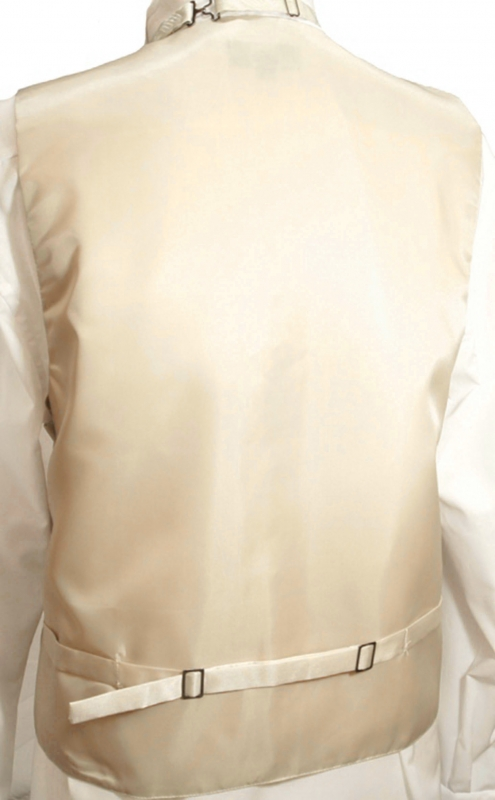 WEDDING VEST SET champagne + SLIM LINE Shirt white V18HL30