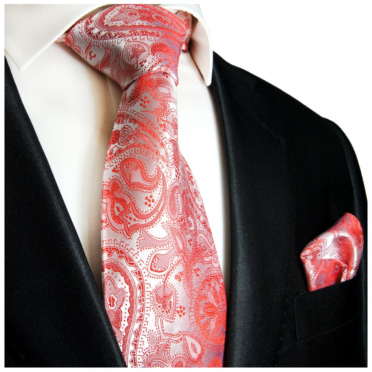 paul malone shop rote krawatte 100 seidenkrawatte. Black Bedroom Furniture Sets. Home Design Ideas