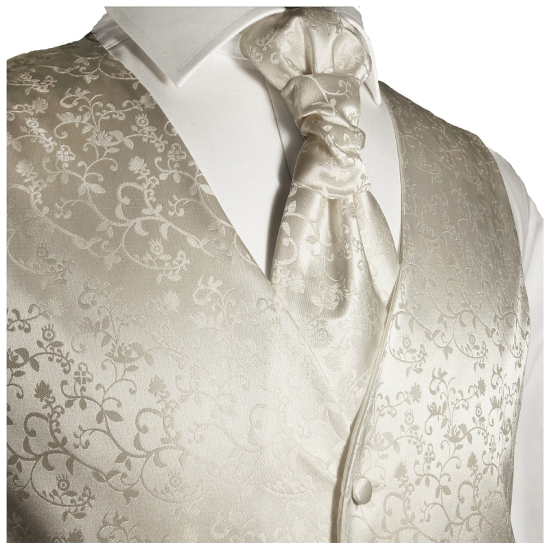 WEDDING VEST SET ivory and Slim Line Shirt white V41HL30