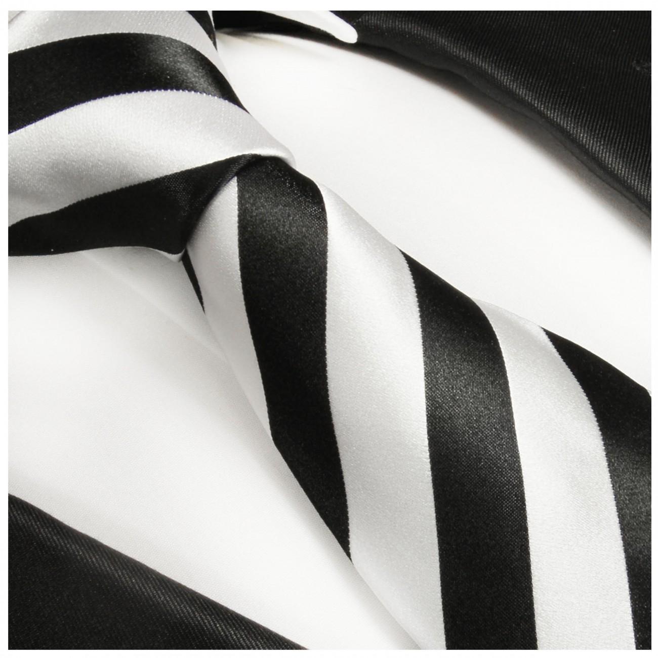 Krawatte Schwarz Weiß
