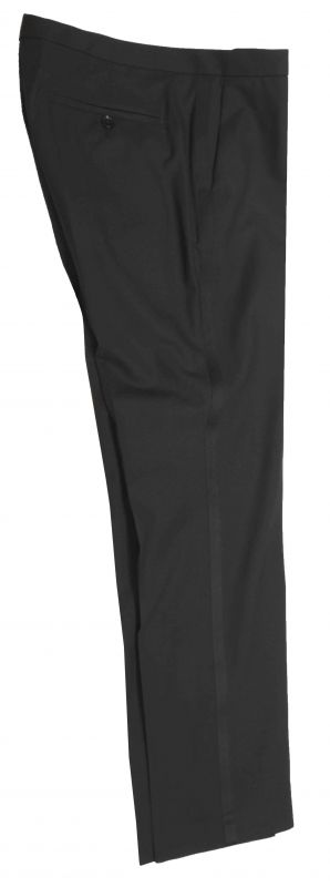 Black wedding man pants trousers with black stripe