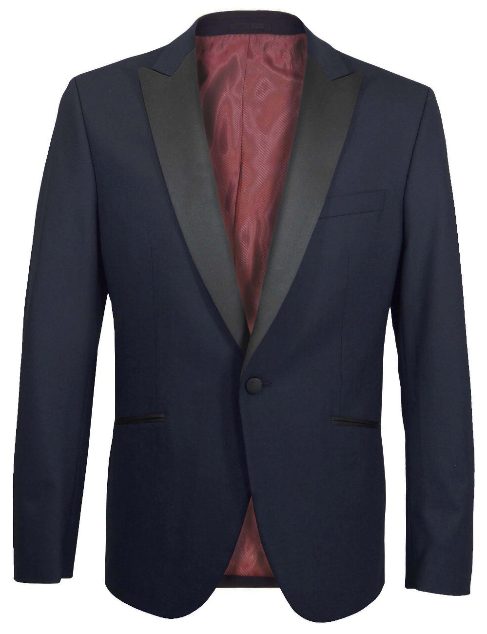 Wedding mens suit dress jacket blue