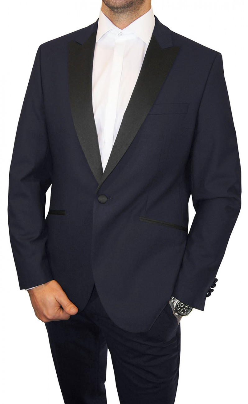 Wedding mens suit blue | dress tuxedo