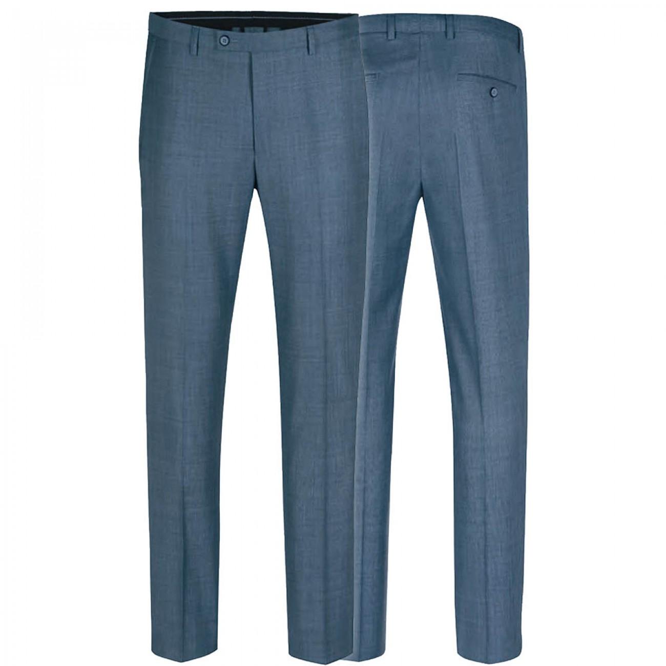 official photos c5e5c a2921 Herren Anzug blau grau | Slim Fit | Anzug für Herren mit modernem AMF Stich