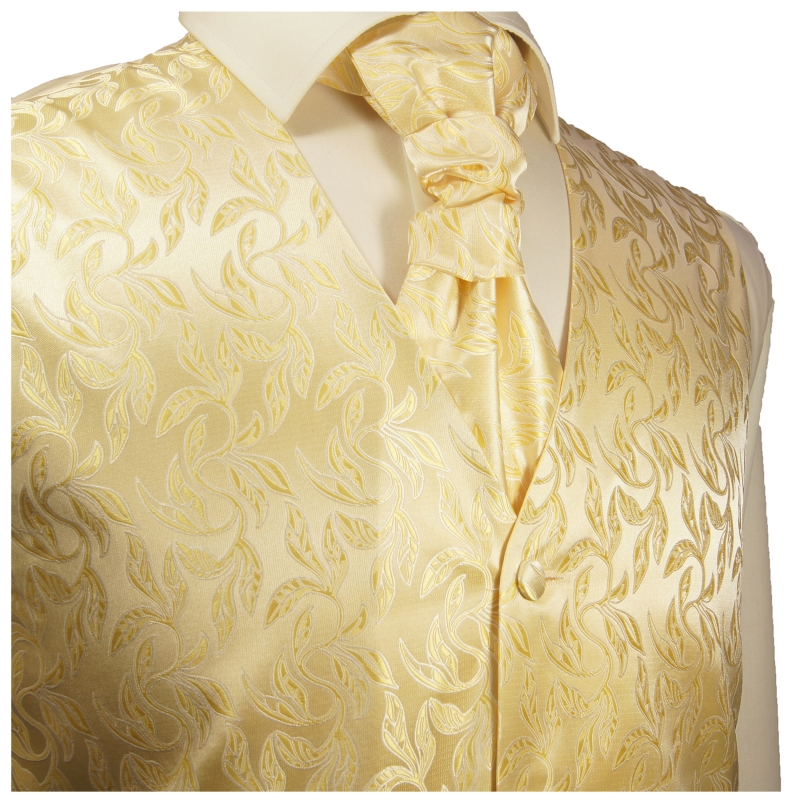 WEDDING VEST SET creme gold and Shirt creme V15HL82