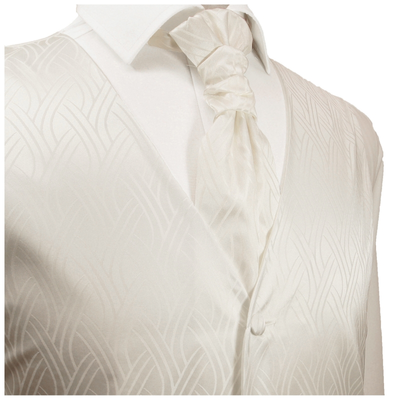 WEDDING VEST SET ivory and Smoking Shirt white V25HL25