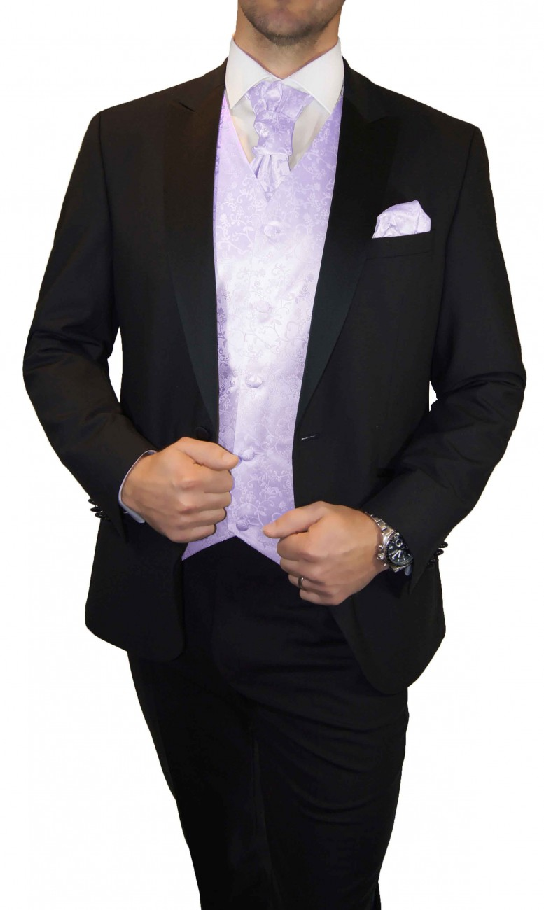 Wedding waistcoat men purple lilac with matching tuxedo v93