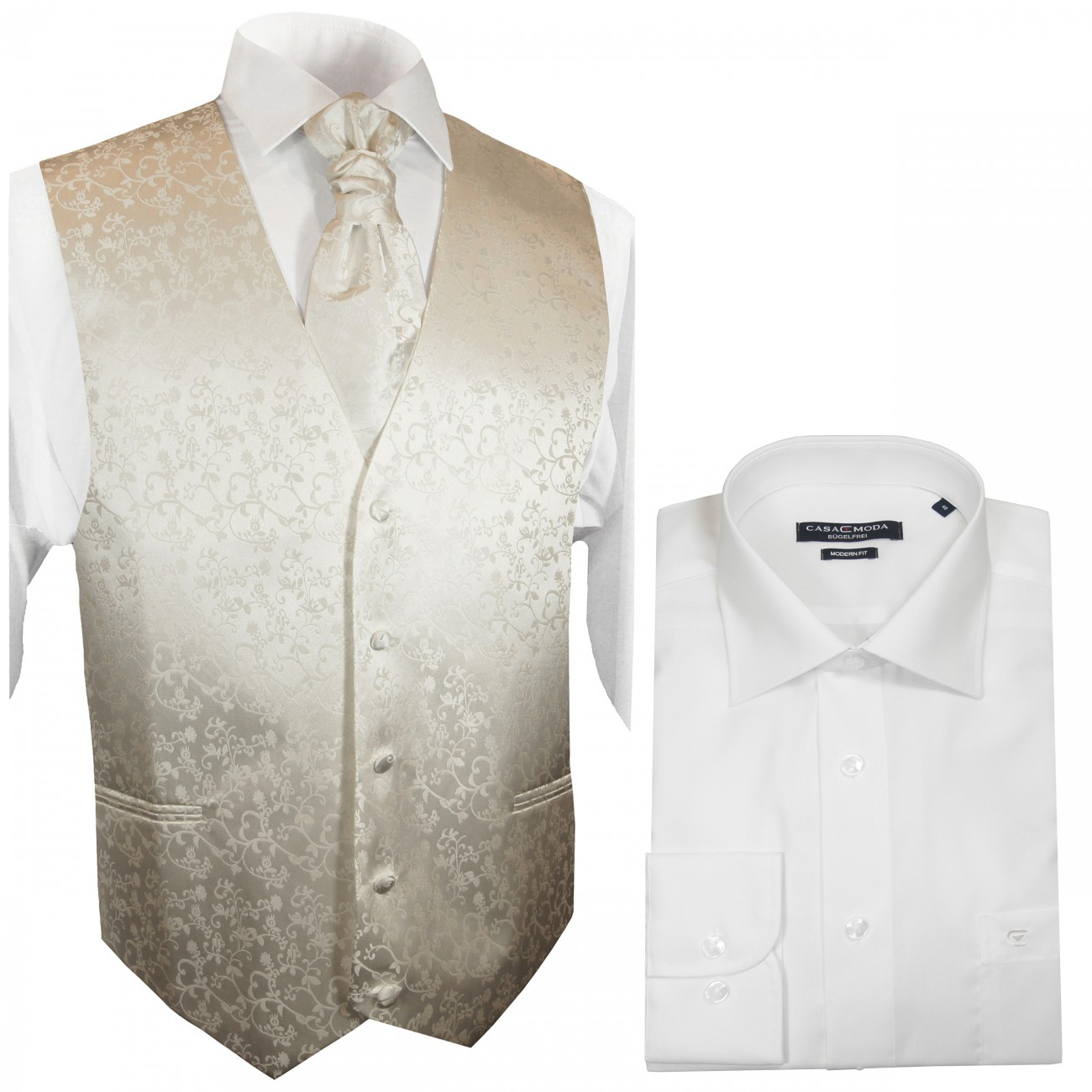 Wedding vest set with wedding shirt