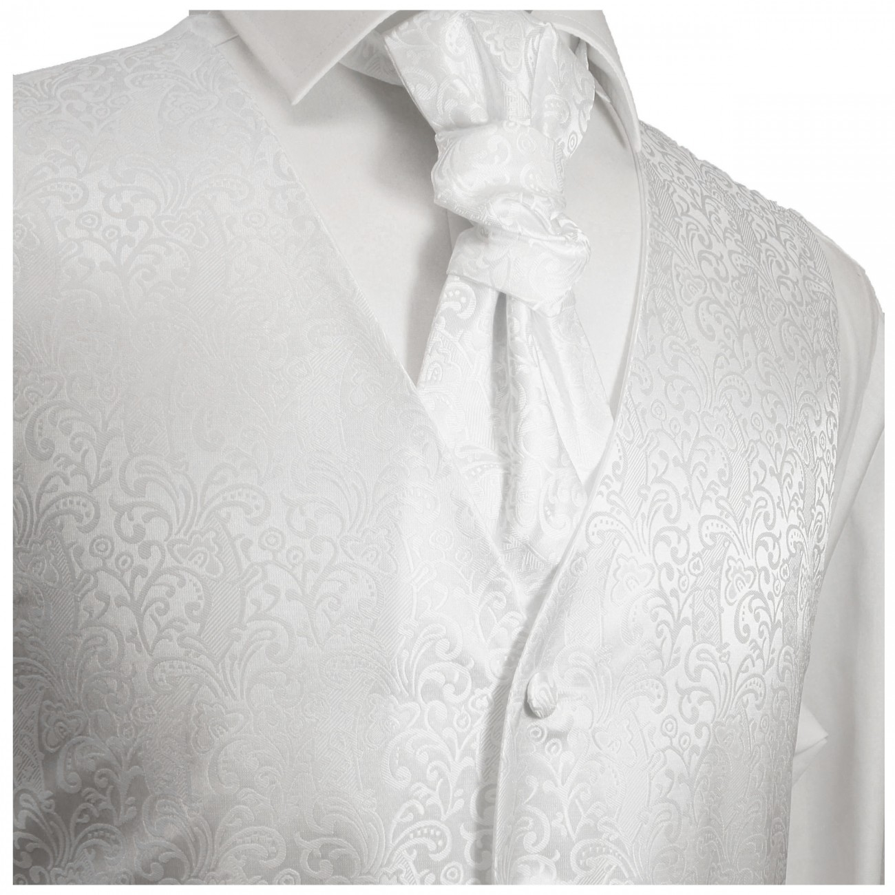 WEDDING VEST SET weiß + Slim Fit Shirt white V43HL30