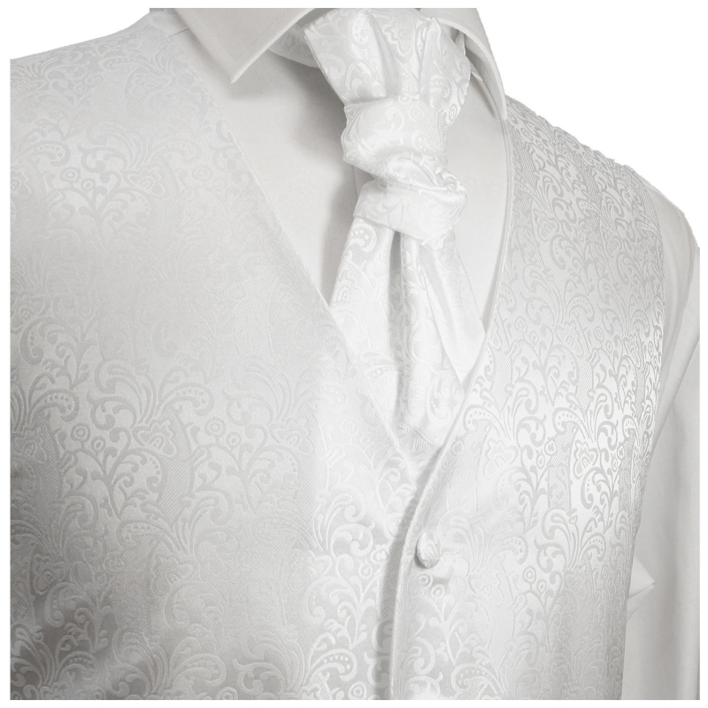 WEDDING VEST SET white + weddingshirt white V43HL25