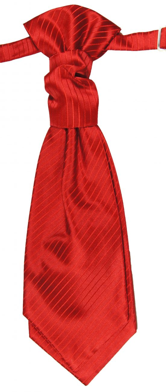 Wedding cravat red striped ascot tie