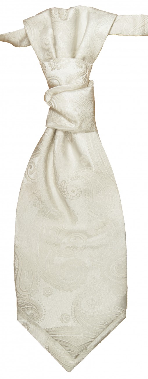 Ivory paisley ascot tie for wedding v44