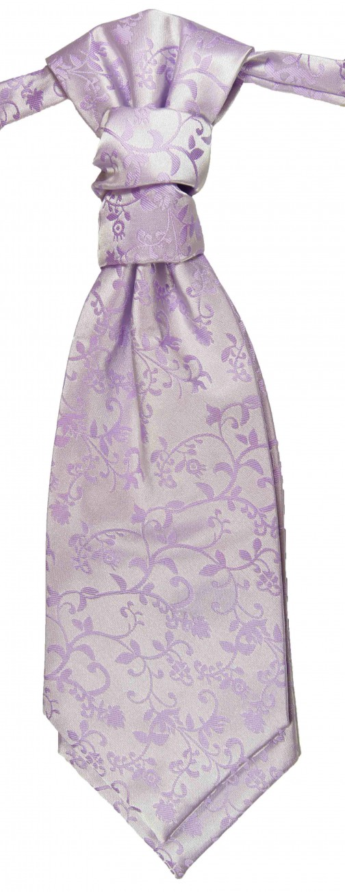 Purple lilac ascot tie for wedding v93
