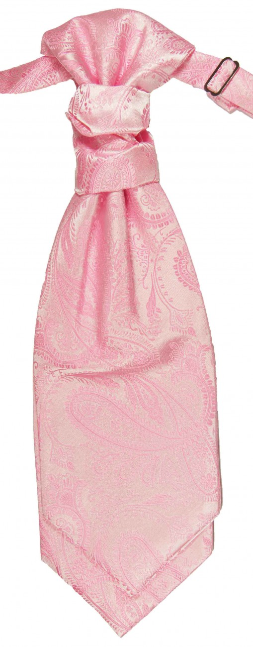 Pink ascot tie for wedding v94