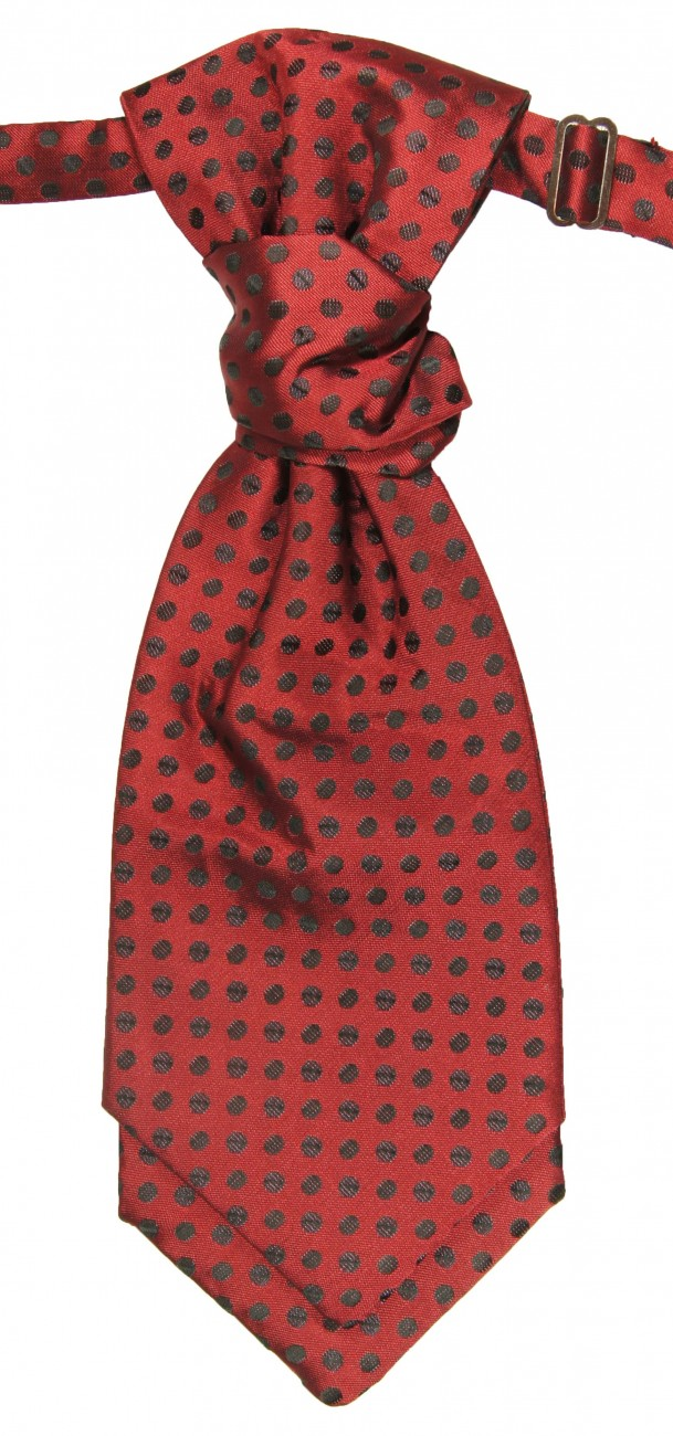 Red ascot tie for wedding v22