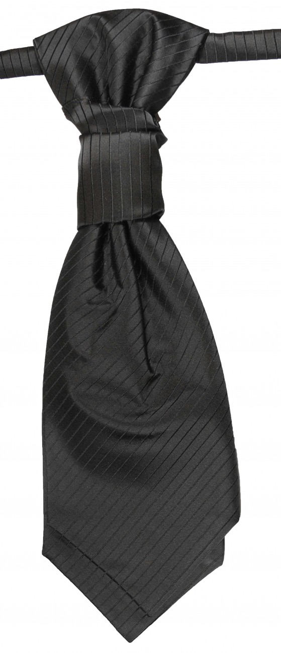 Black ascot tie for wedding v21