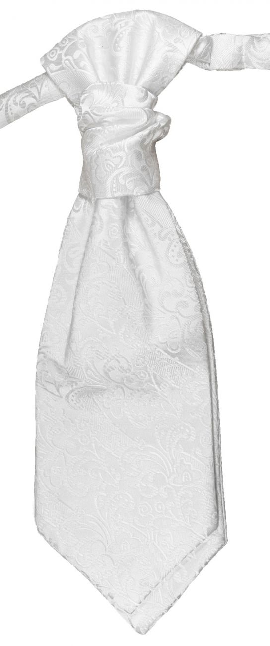 Wedding cravat white ascot tie