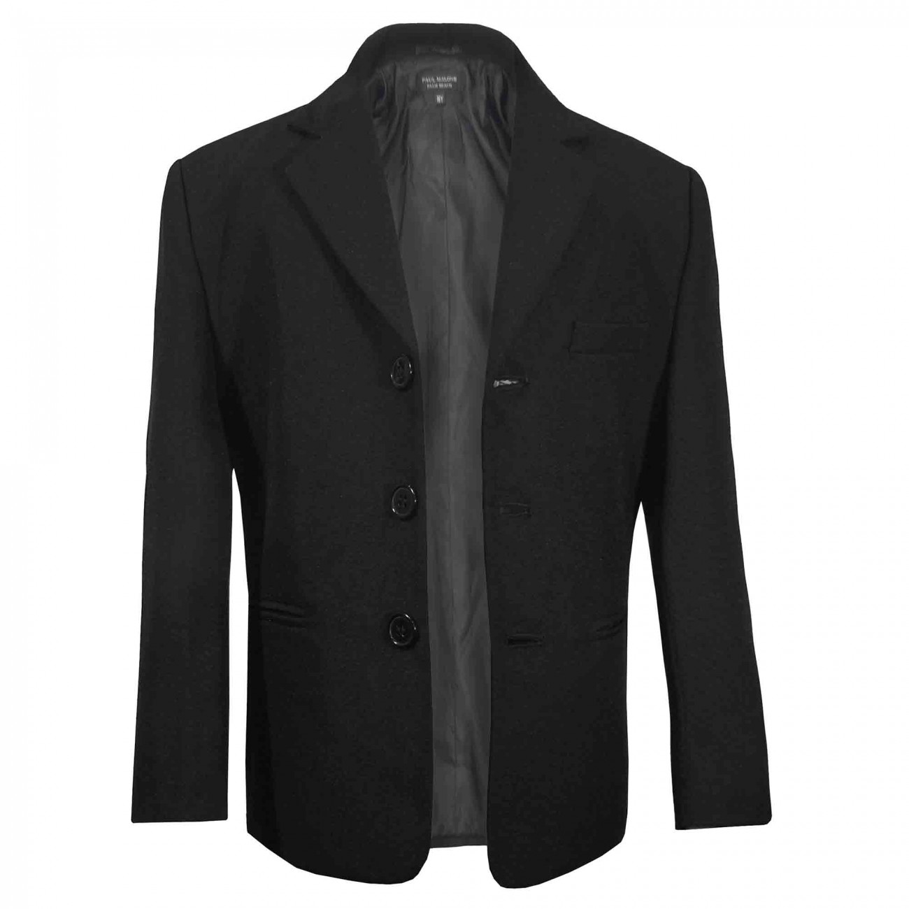 Boys suit jacket black solid 41